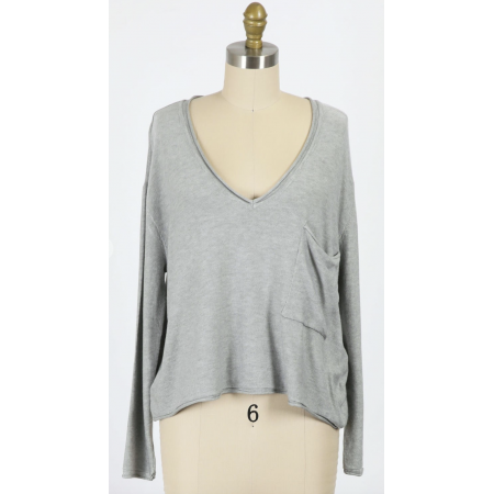AJ Knit Top Grey