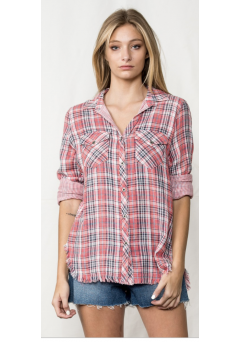 Annelise Plaid Top
