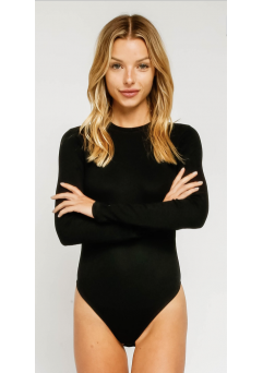 Bodysuit Long sleeve Black