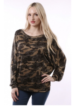 Camo Top Dark Green