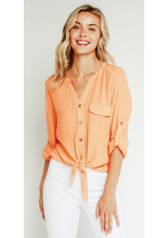 Cassie Top Cantaloupe