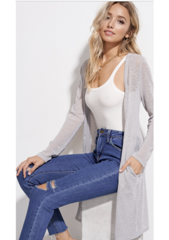 Chelsey Cardigan Silver