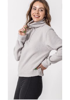 Cloud Nine Sherpa Pullover (Light Grey)