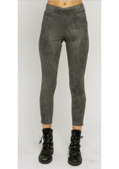 Faux Suede Leggings Charcoal