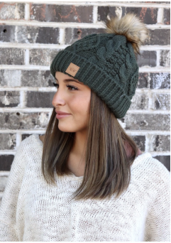 Heather Beanie Olive