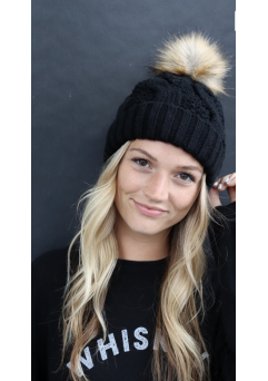 Heather Beanie Black