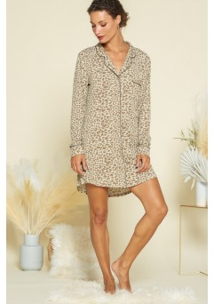 Olive Leopard Night Shirt
