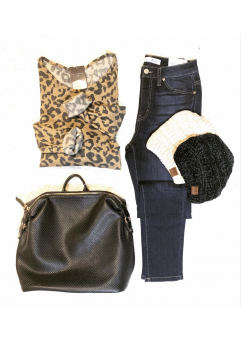Leopard Sweater (Camel)