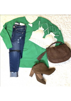Miracle Sweater Kelly Green