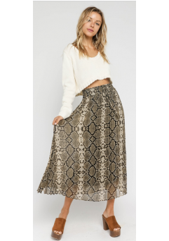 Pleated Snake Skirt