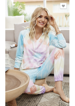 Bailey Tie Dye Set White
